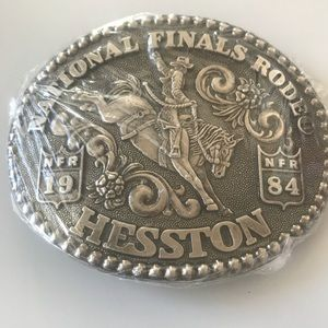NEW Old stock Vintage 1984 Hesston NFR buckle